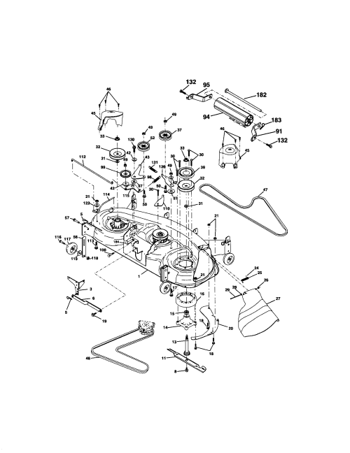 small resolution of craftsman gt 5000 garden tractor part