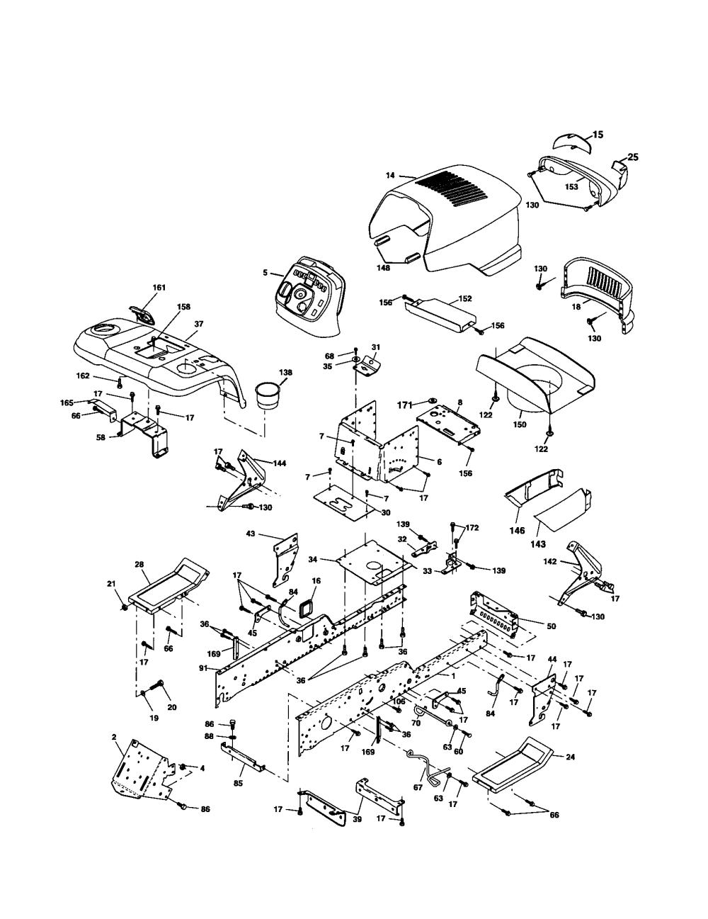 medium resolution of husqvarna logt2254 chassis and enclosures diagram