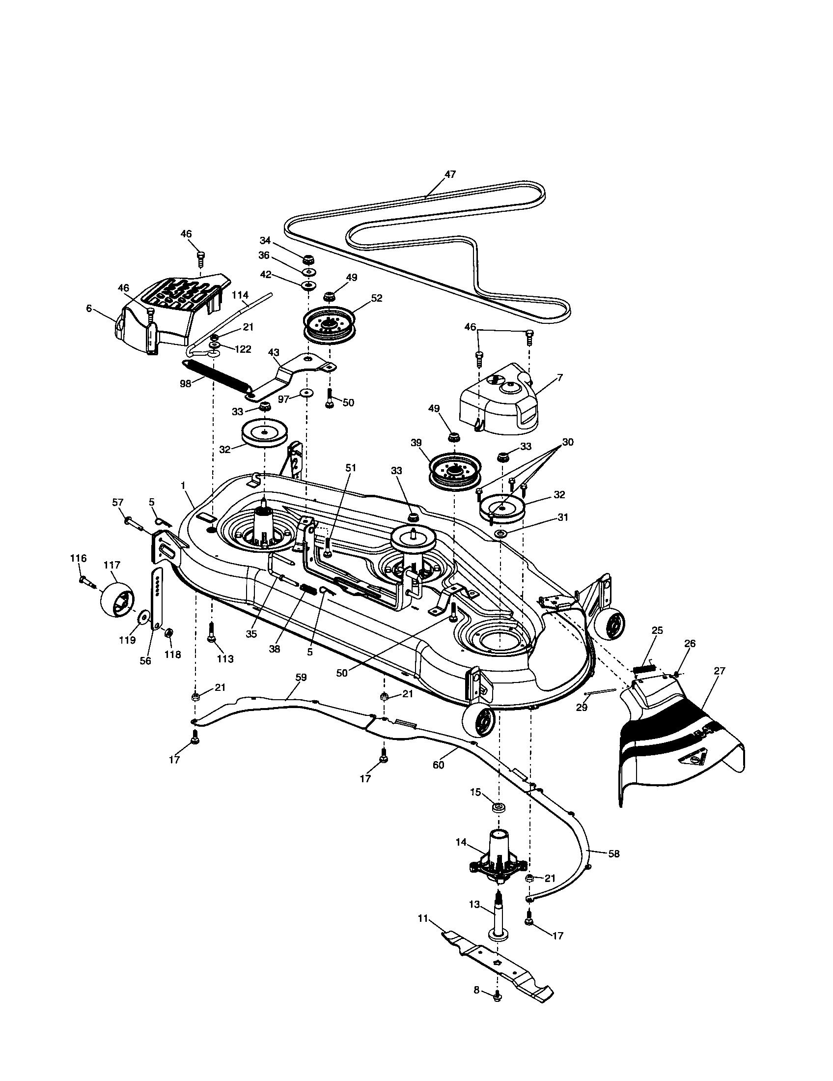 Craftsman Model 917 Wiring Diagram 271832 Schematic Diagrams Sears Mower