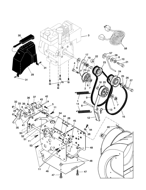 small resolution of husqvarna hl1027 steb chassis engine pulleys diagram