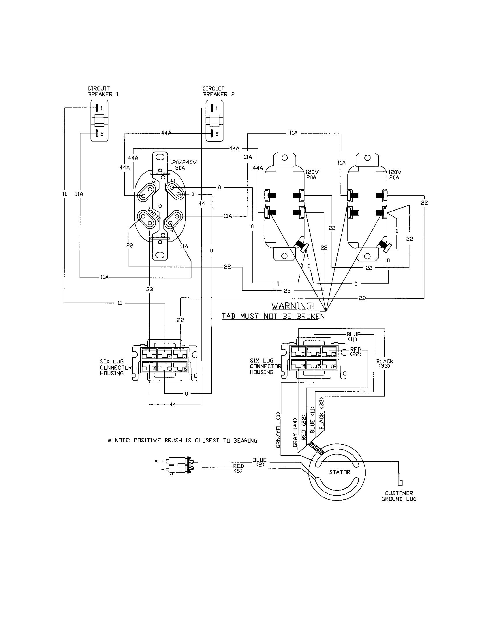 craftsman ac generator wiring diagram parts model 580328301