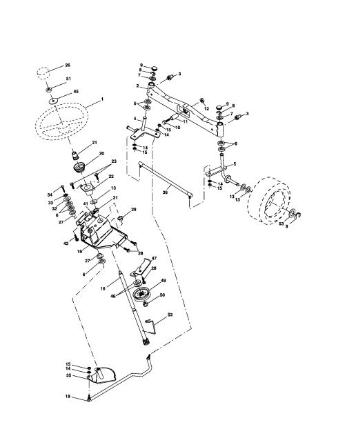 small resolution of husqvarna model gth2654 lawn tractor genuine parts husqvarna lawn mowers transmission oil husqvarna lawn mower steering diagram