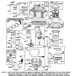 briggs stratton 445677 0413 e1 cylinder crankshaft housing blower diagram [ 1696 x 2200 Pixel ]