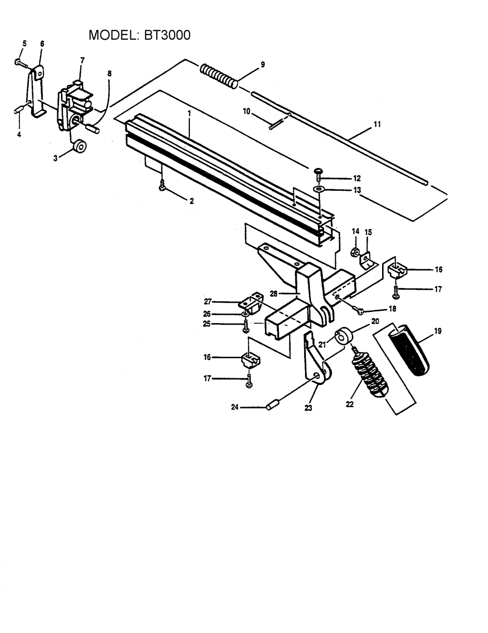 medium resolution of ryobi table saw rip fence assembly parts