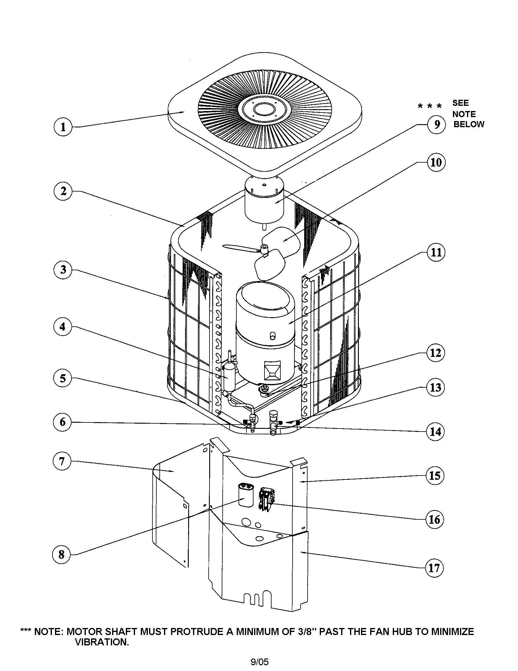ac unit diagram and parts