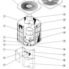 Heat Pump Air Handler Diagram Bravo 1 Outdrive Parts Goodman Condensing Unit Model Ckj361a Sears