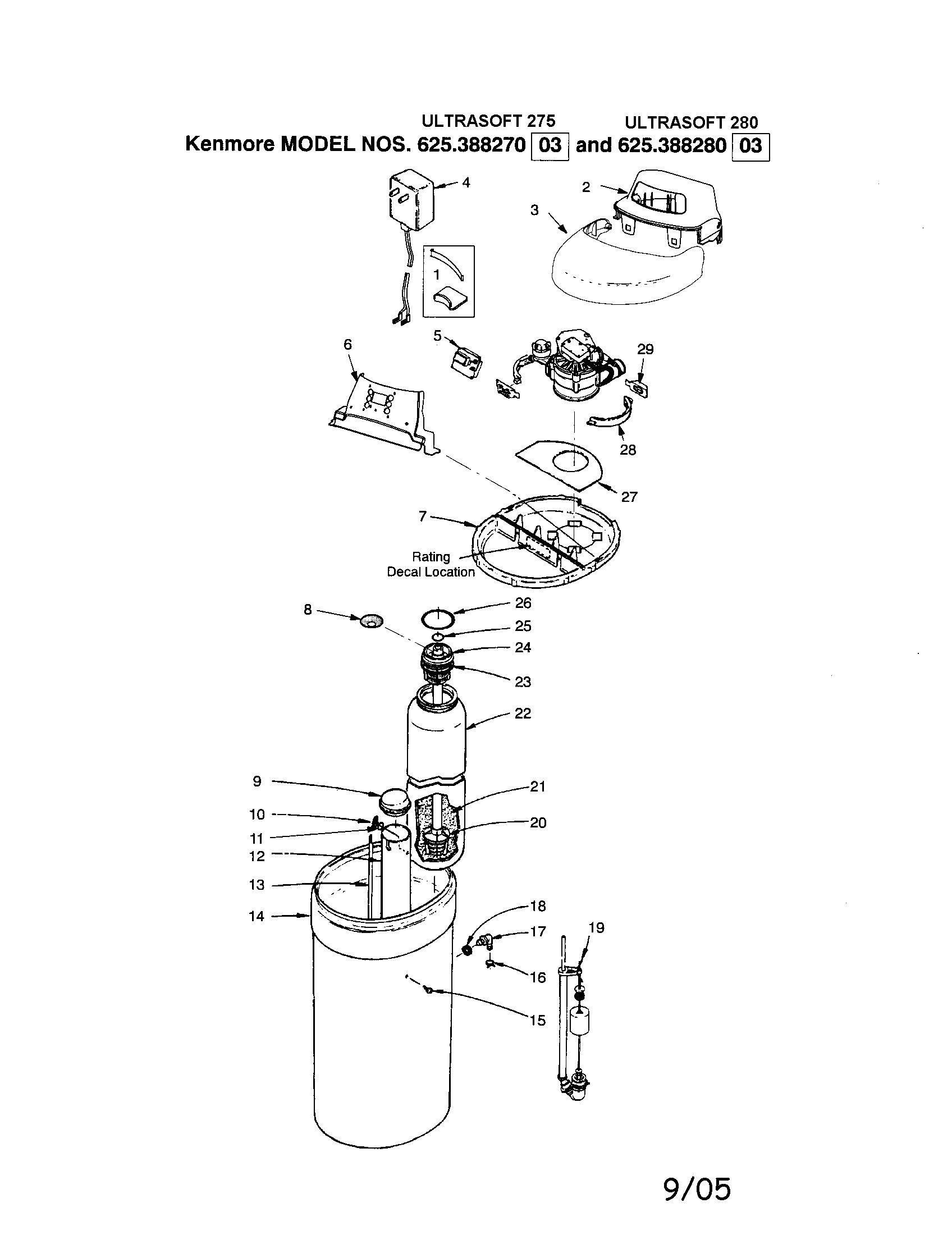 Water Softener: Kenmore Water Softener Diagram