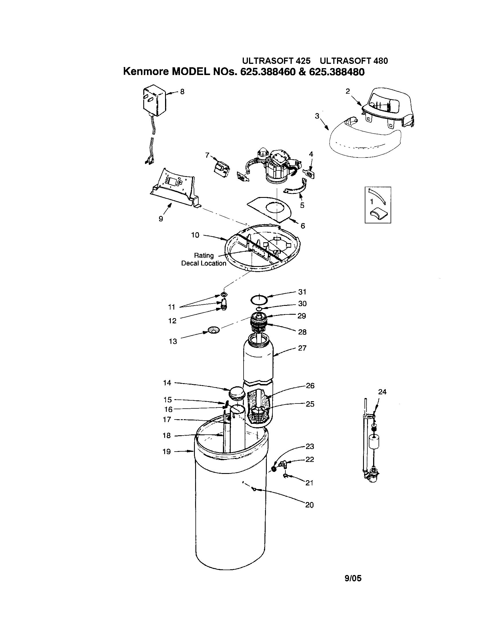 culligan water softener parts diagram fully labeled human skeleton kenmore model 625388460 sears