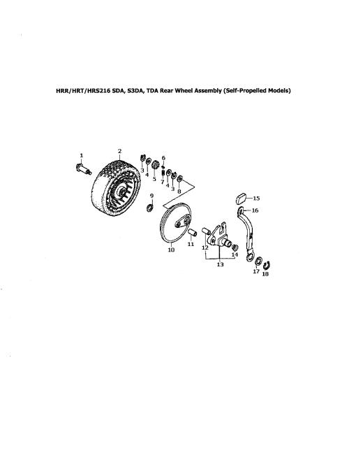 small resolution of honda hrr216tda rear wheel assembly diagram