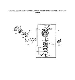 honda hrr216tda carburetor assembly for hondas diagram [ 1696 x 2200 Pixel ]