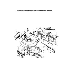honda hrr216tda deck cutter housing diagram [ 1696 x 2200 Pixel ]
