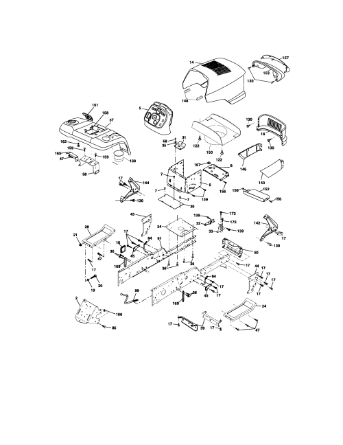 small resolution of craftsman 917276240 chassis and enclosures diagram