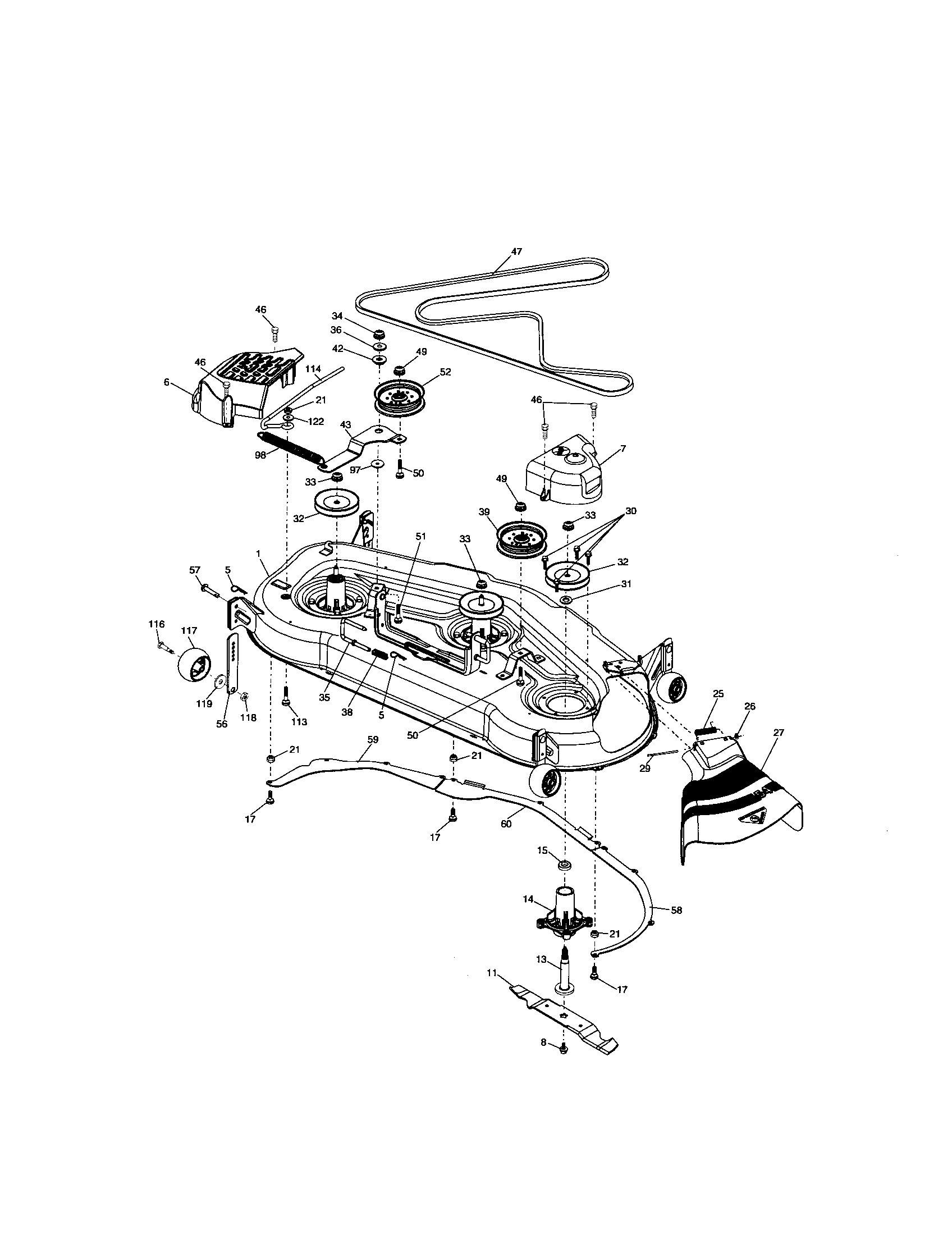 Craftsman Mower Wiring Diagram 917 255692