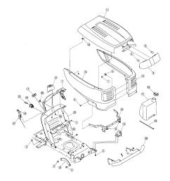 troybilt tractor hood dash parts [ 1696 x 2200 Pixel ]