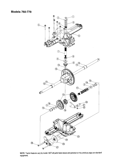 small resolution of mtd 13am762f765 differential models 760 779 diagram