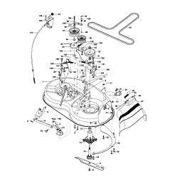 looking for craftsman model 917275351 front engine lawn tractor craftsman lt1000 mower deck parts diagram craftsman lt 2000 mower [ 1696 x 2200 Pixel ]
