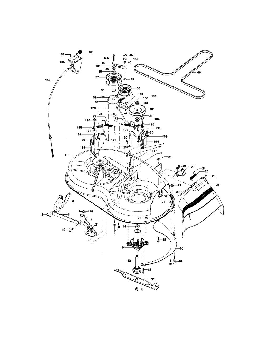 medium resolution of looking for craftsman model 917275351 front engine lawn tractor craftsman lt1000 mower deck parts diagram craftsman lt 2000 mower