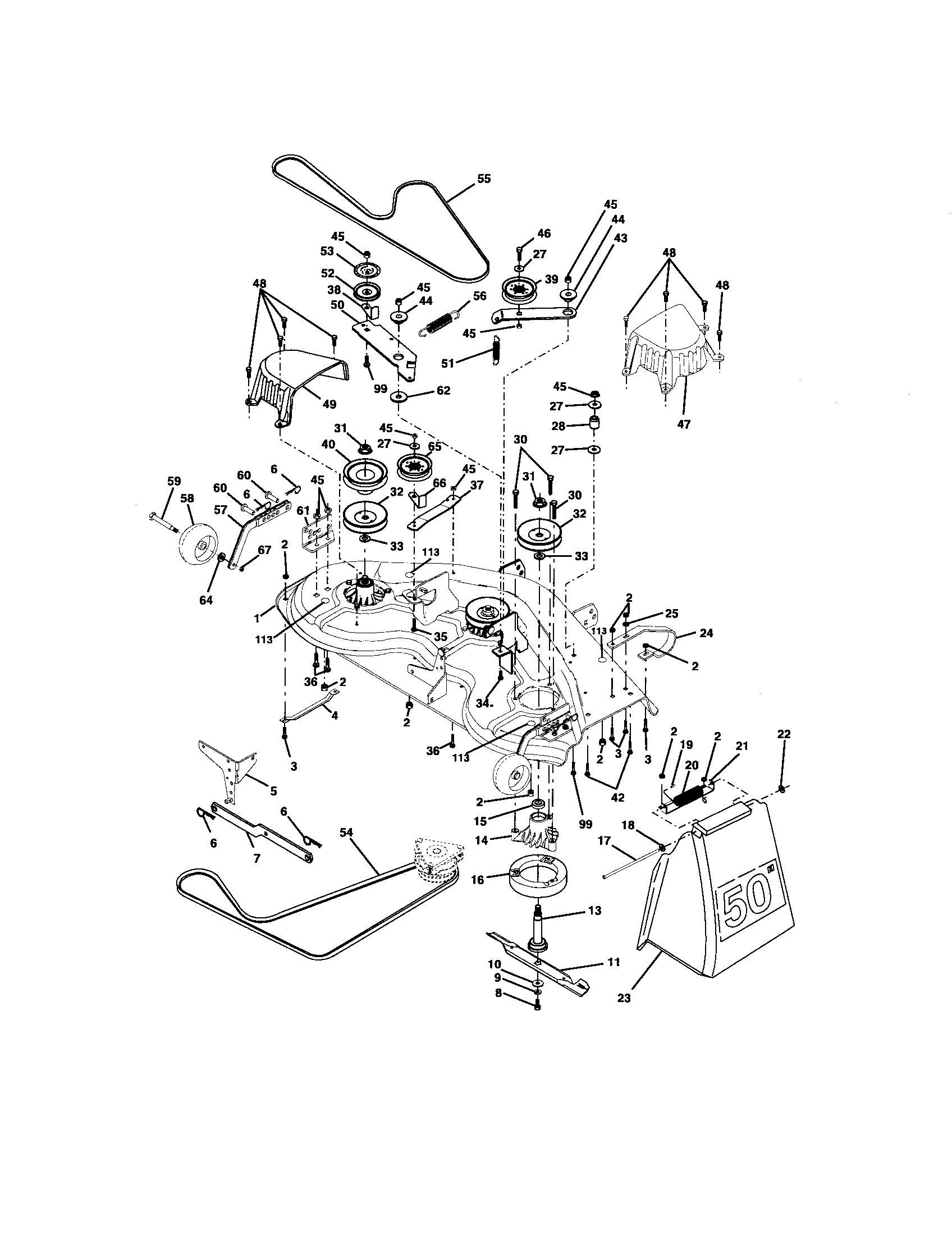 Craftsman Gt5000 Drive Belt Diagram : craftsman, gt5000, drive, diagram, Craftsman, 917276051, Front-engine, Tractor, Parts, Sears, PartsDirect