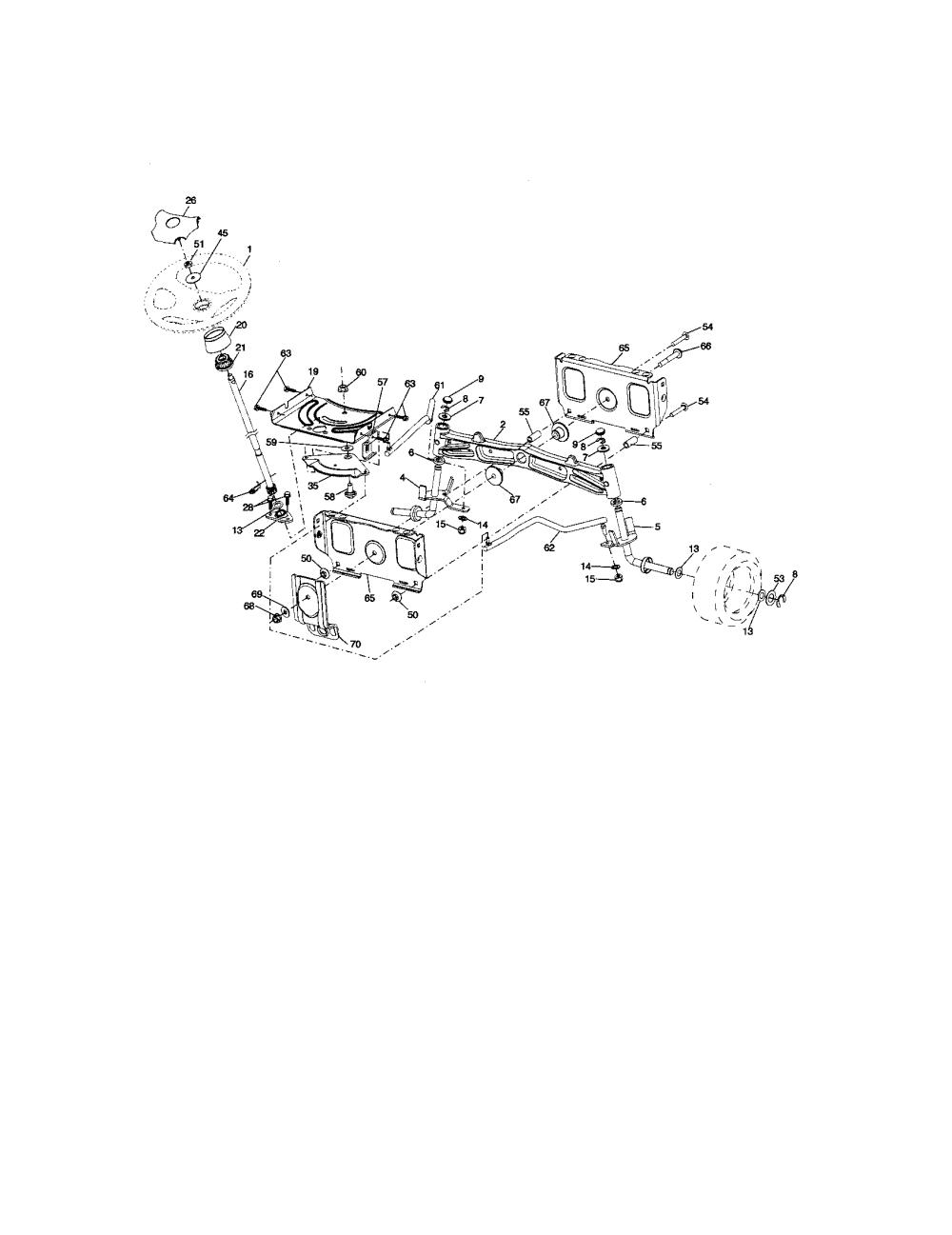 medium resolution of craftsman 917276600 steering assembly diagram