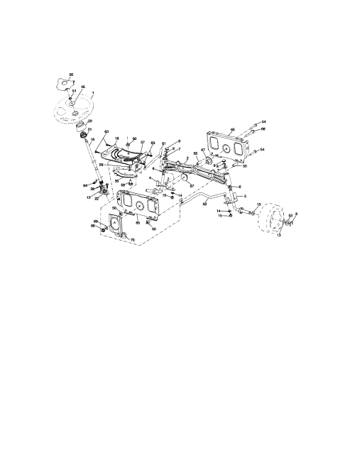 small resolution of craftsman 917276600 steering assembly diagram