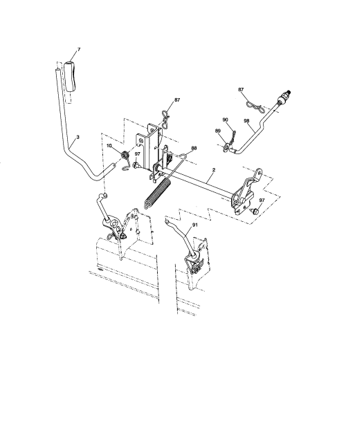 small resolution of craftsman 917276600 lift assembly diagram