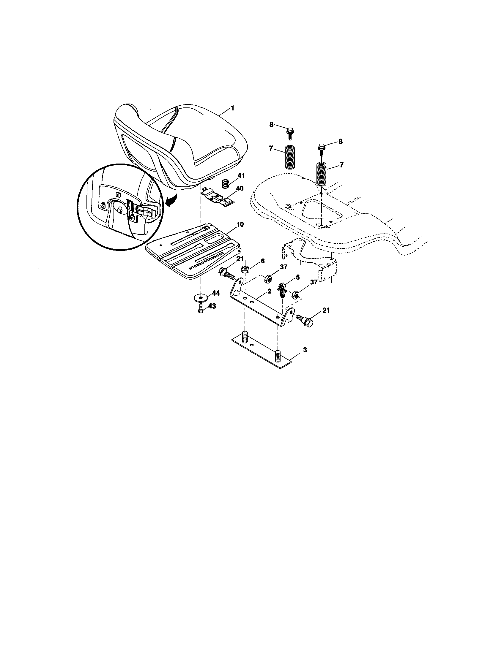 hight resolution of craftsman 917276600 seat assembly diagram