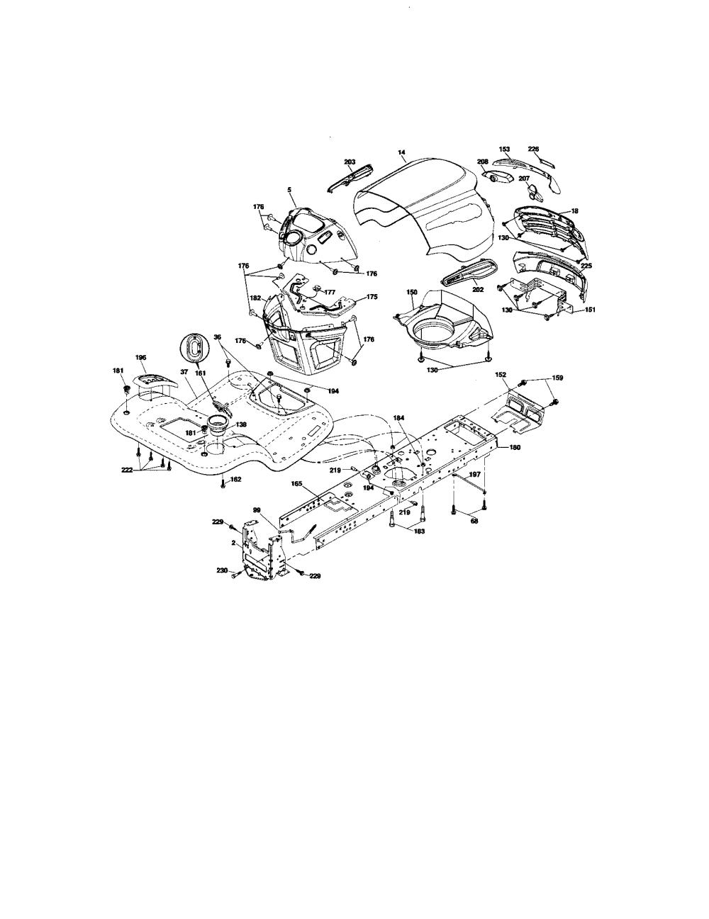 medium resolution of craftsman 917276600 chassis and enclosures diagram