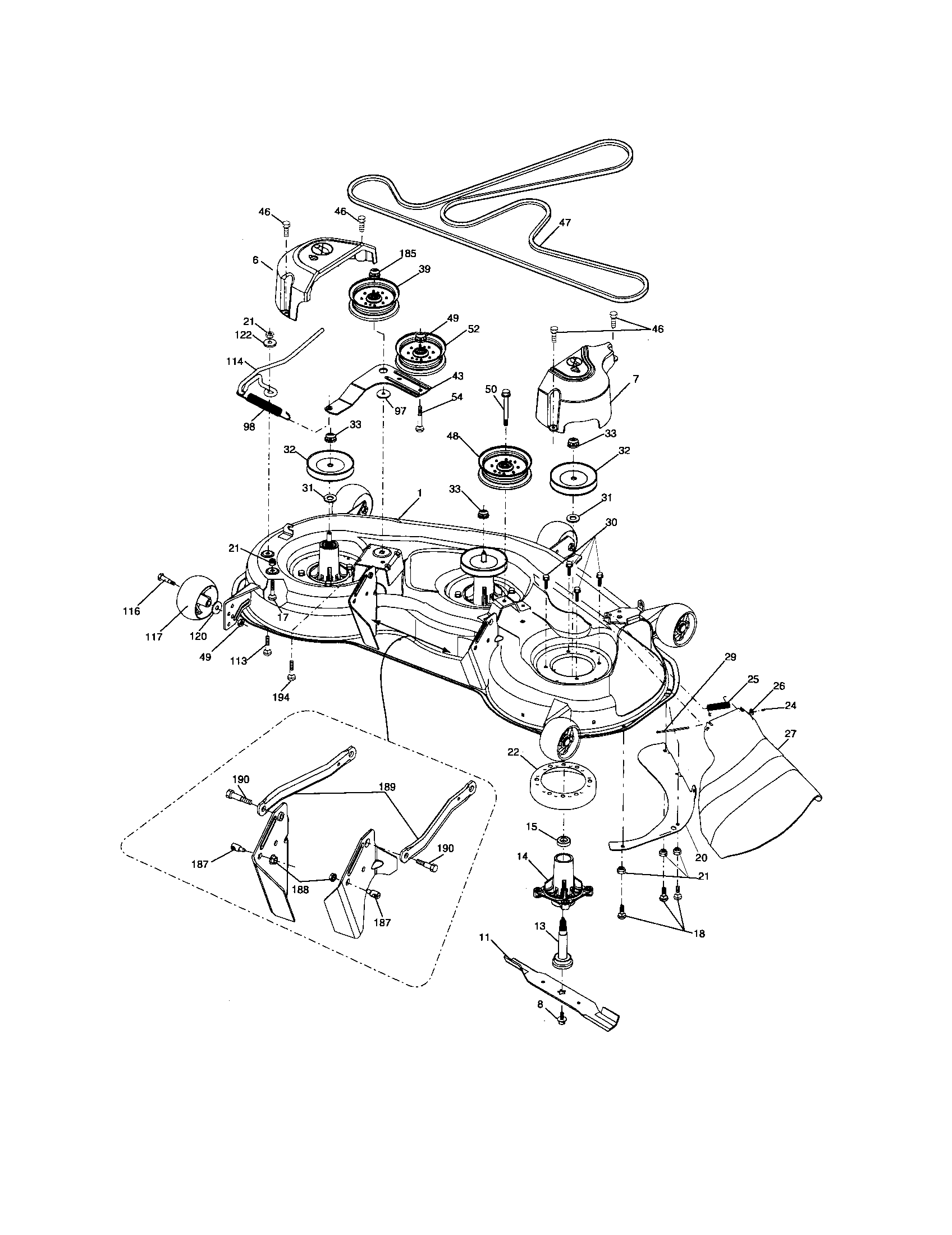 Husky Riding Mower Deck Diagram 48 In, Husky, Free Engine