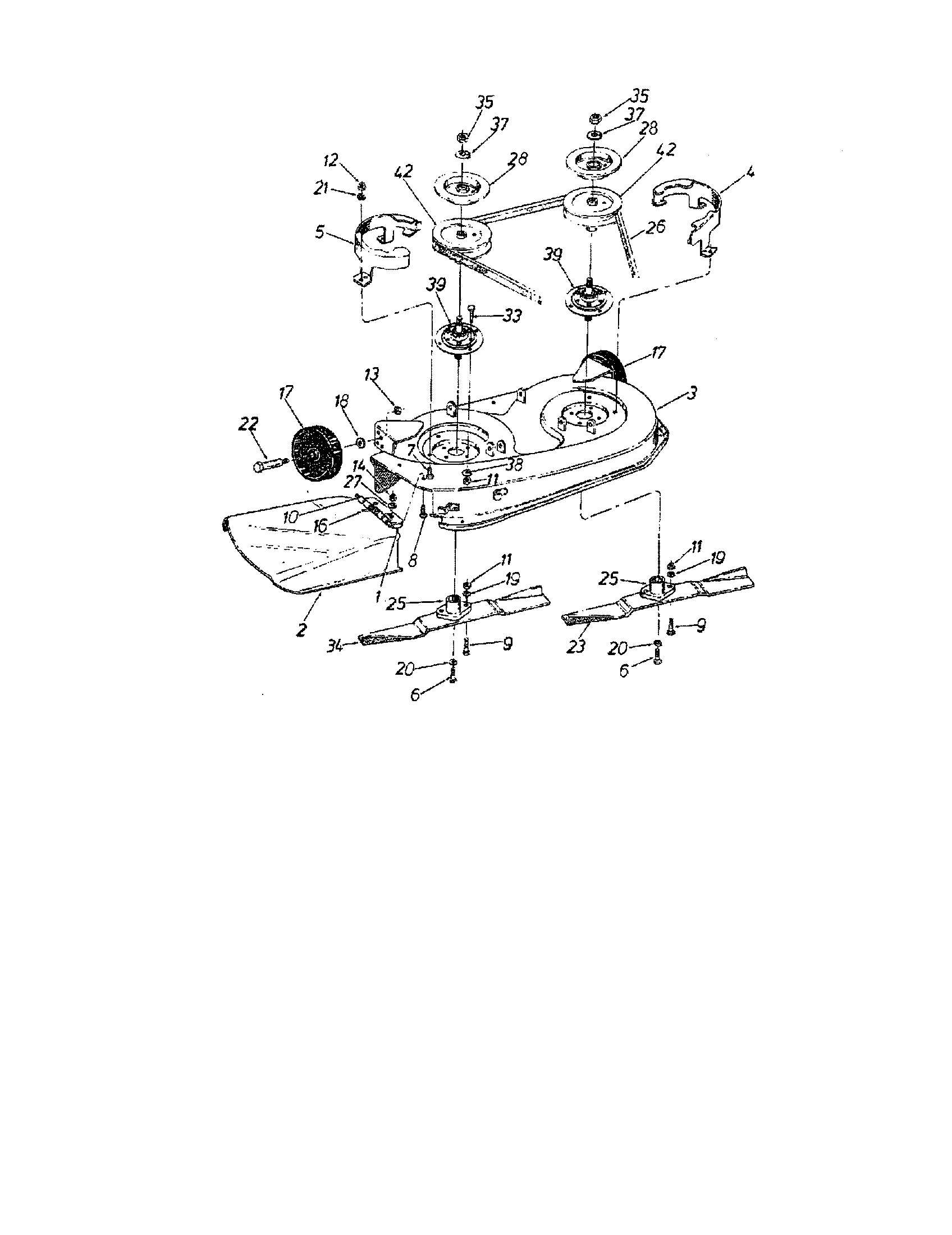CHUTE ASSEMBLY Diagram & Parts List for Model TMO33931A