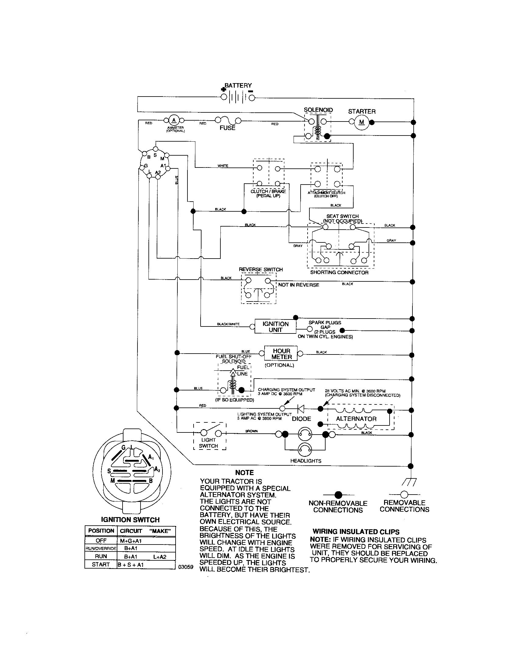 hight resolution of craftsman 917276816 schematic tractor diagram