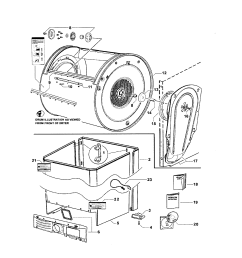 fisher paykel dggx1 96011b cabinet drum inlet duct diagram [ 1696 x 2200 Pixel ]