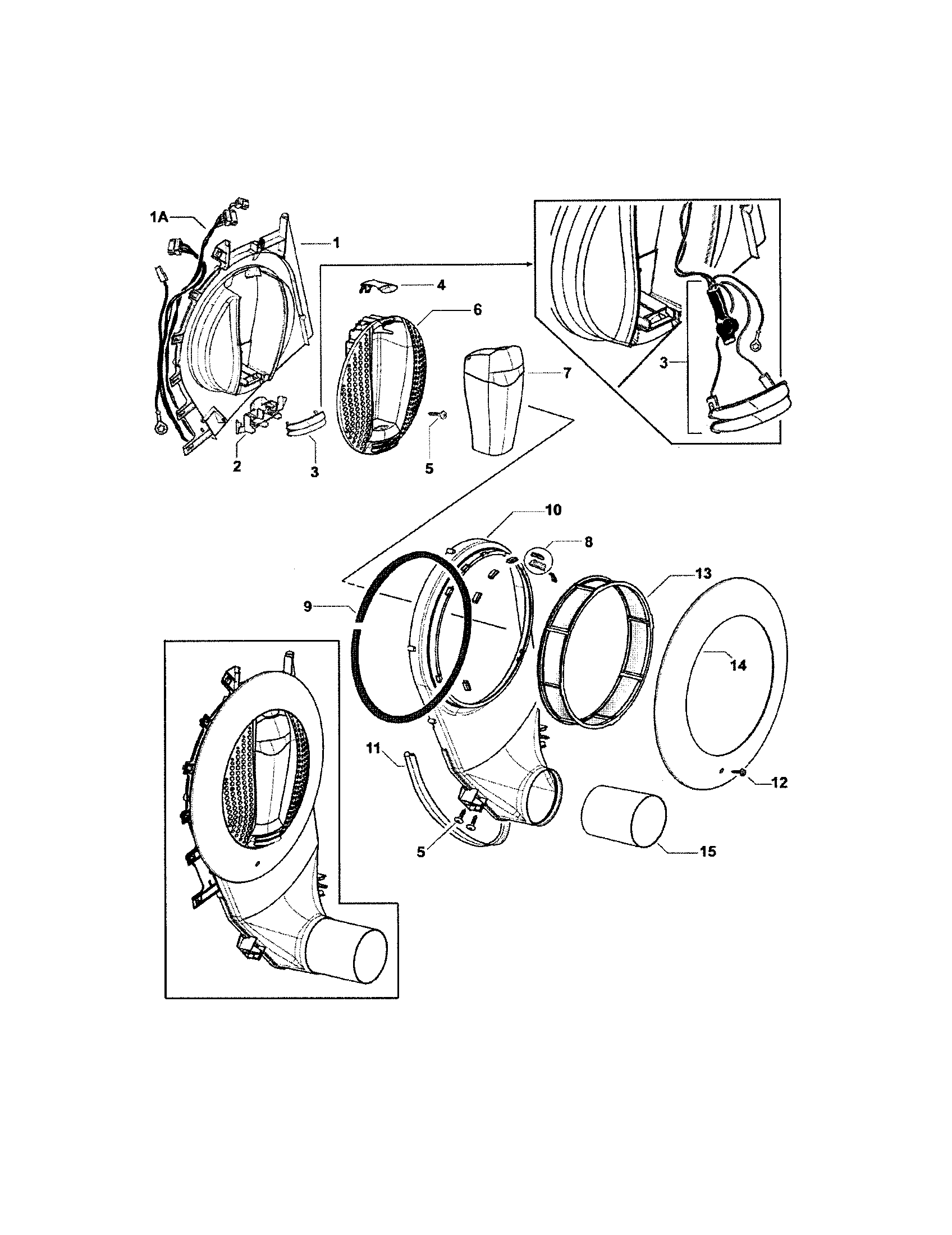 hight resolution of fisher paykel dggx1 96011b outlet duct diagram