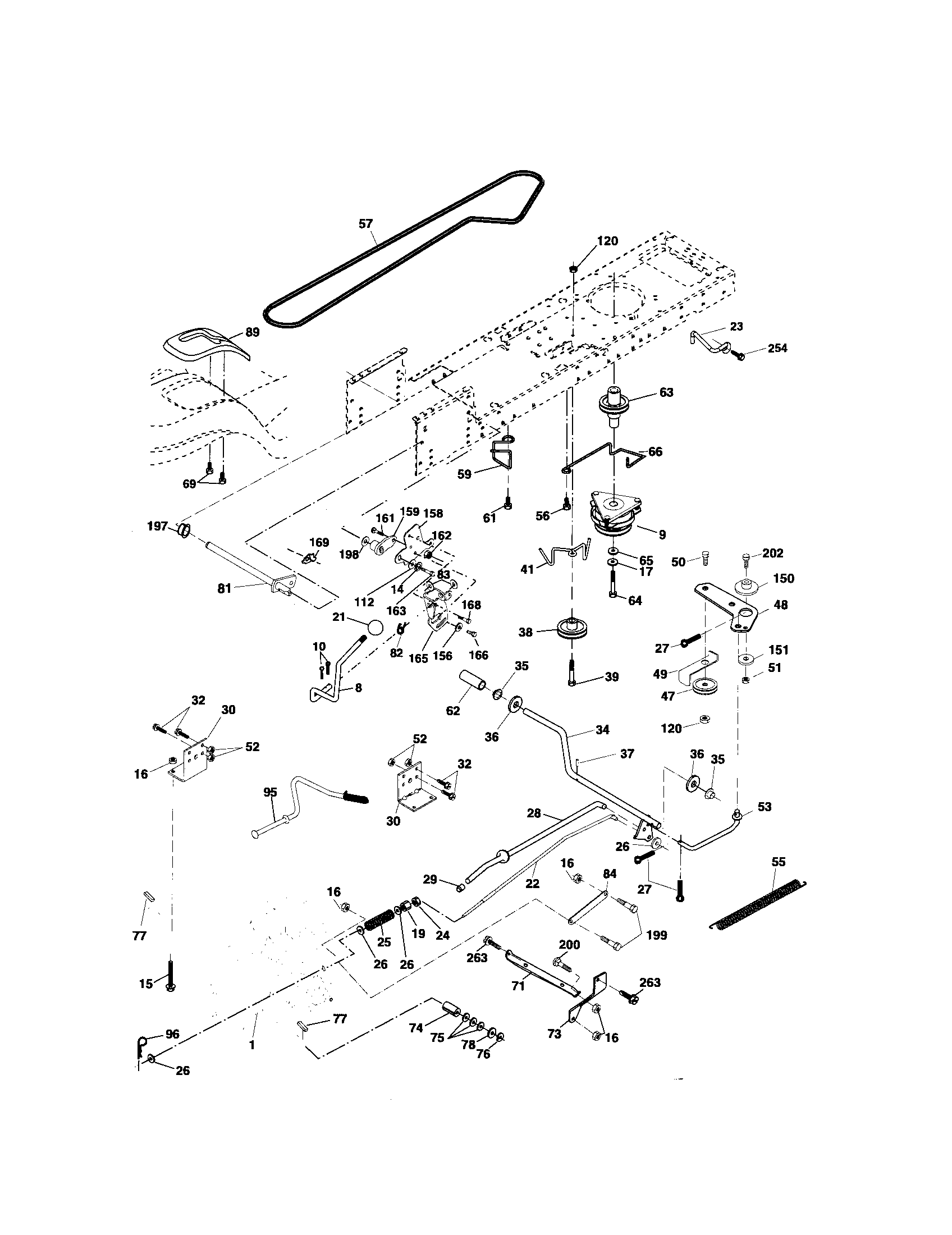 DRIVE Diagram & Parts List for Model pk20h48yt Poulan