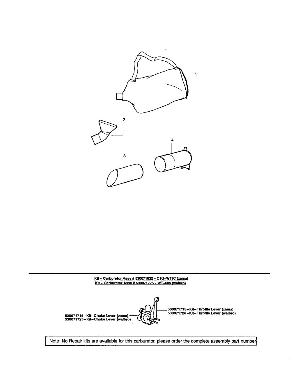 medium resolution of poulan sm400 type 2 vacuum tube assembly diagram