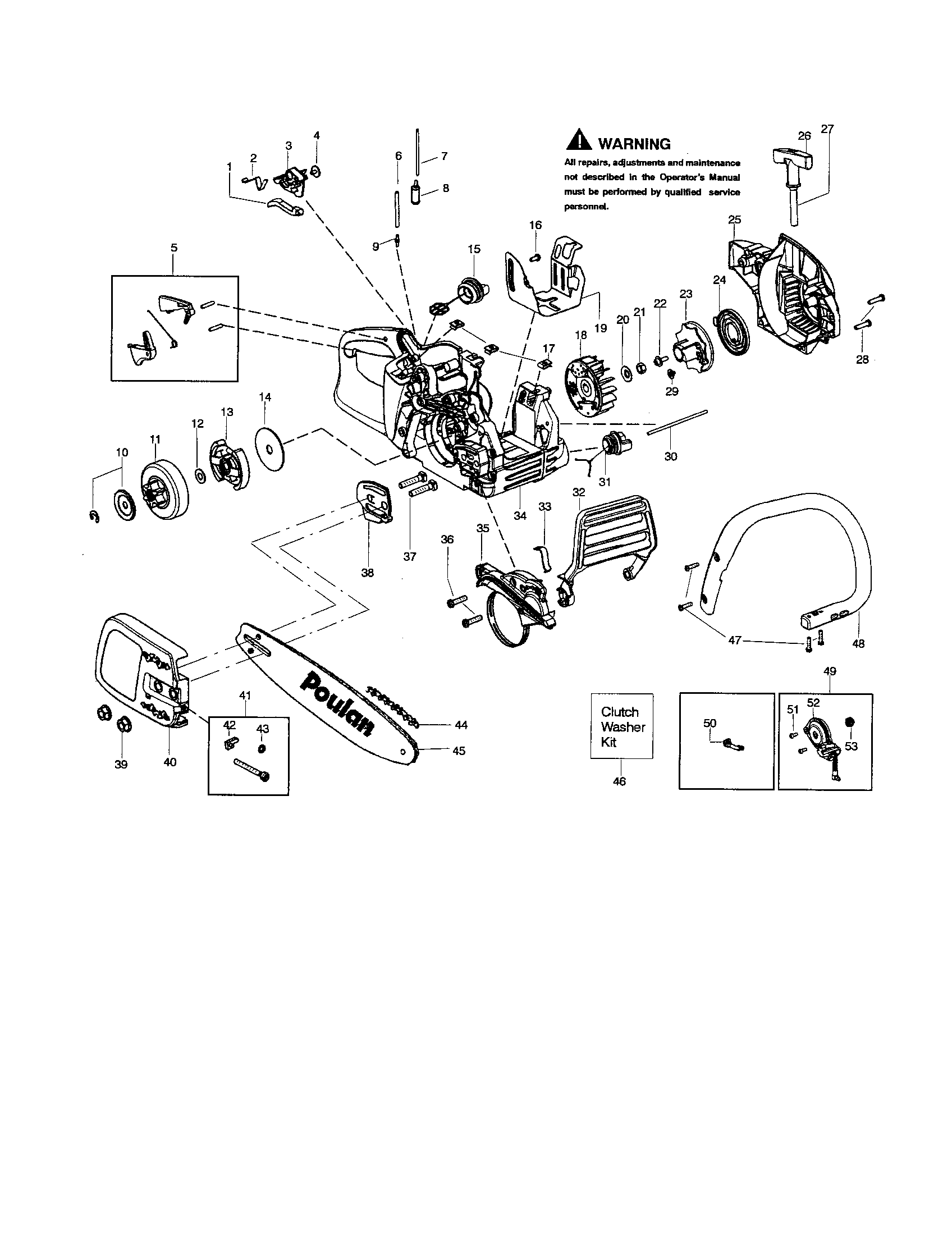Poulan Chainsaw Schematic, Poulan, Free Engine Image For