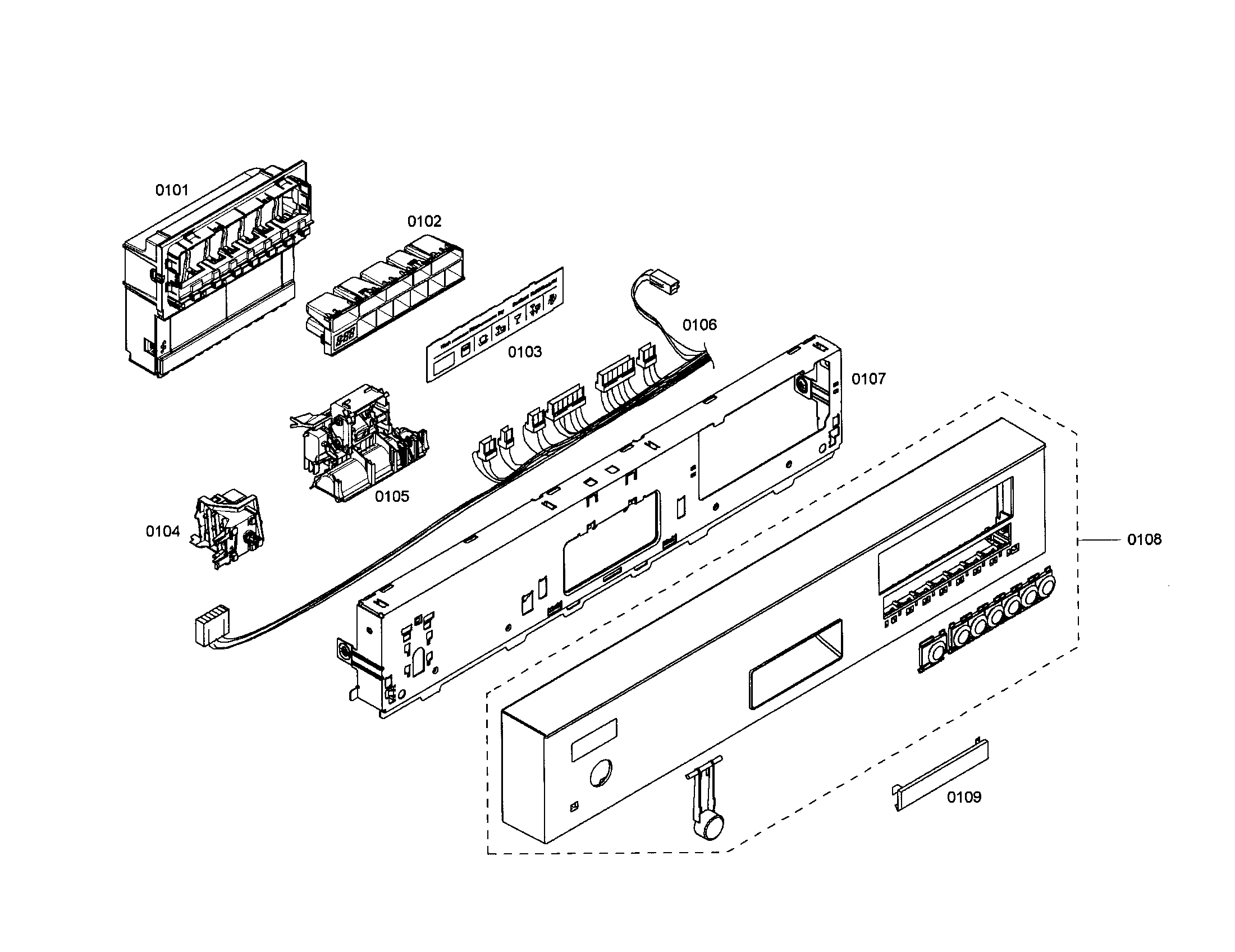 CONTROL MODULE Diagram & Parts List for Model 63017303402