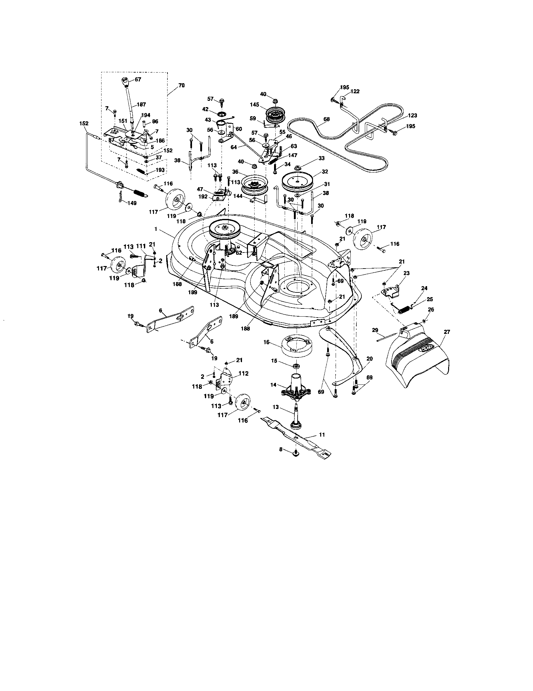 MOWER DECK Diagram & Parts List for Model 917287261