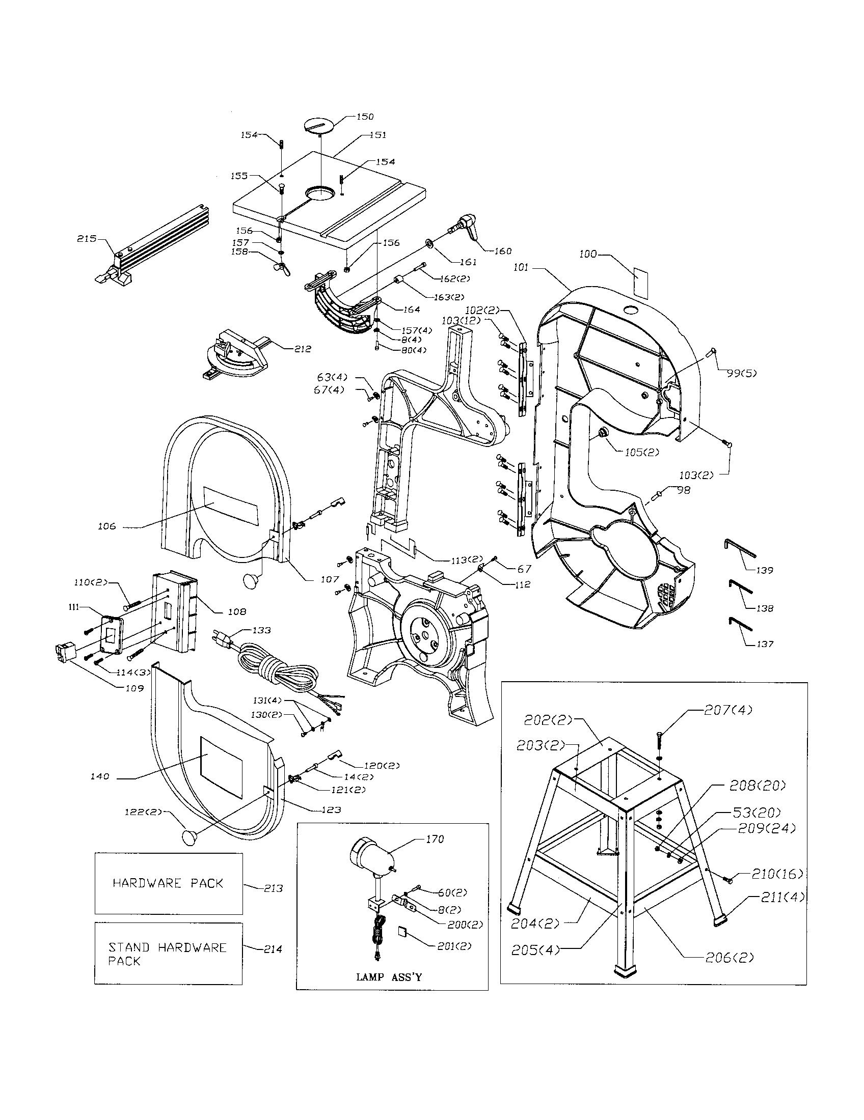 Band Saw Diagram