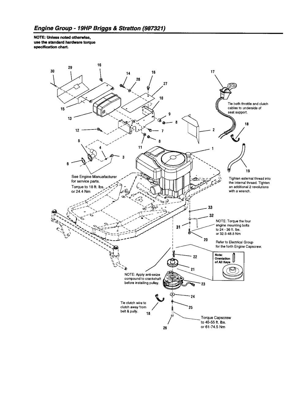 medium resolution of craftsman 107277680 engine group 19hp b s diagram