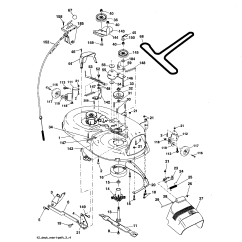 Craftsman Lawn Tractor Parts Diagram Mercury 250 Optimax Wiring Mower Deck And List For Model 917287070