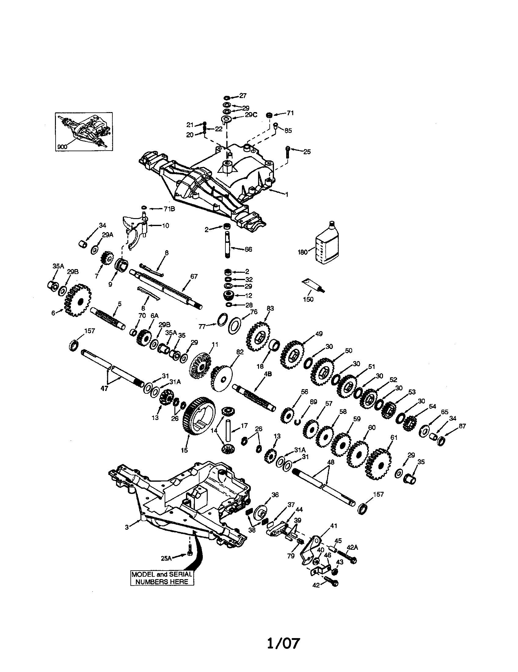 hight resolution of peerless 206 546 peerless pmst transaxle diagram