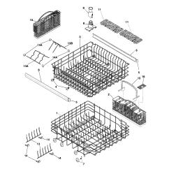 Frigidaire Gallery Dishwasher Parts Diagram 3 Way Displays Model Gldb958as2 Genuine