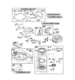 briggs stratton 124t02 3847 b2 rewind starter blower housing diagram [ 1696 x 2200 Pixel ]