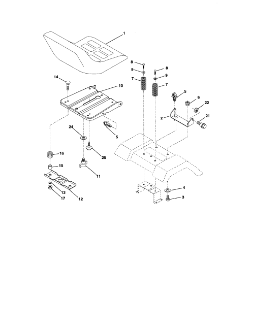 small resolution of craftsman 917287050 seat assembly diagram