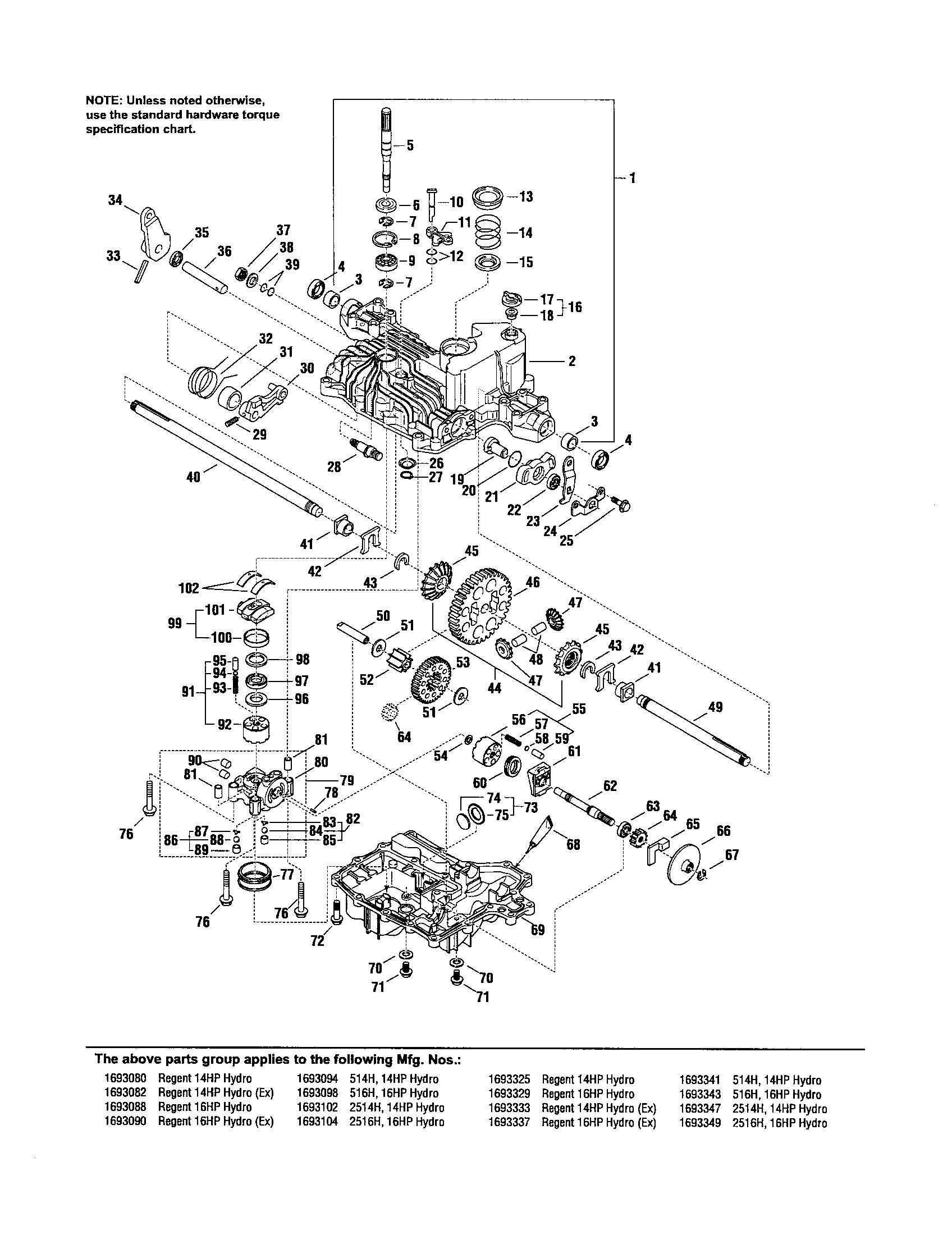 Tuff Torq K46 Transaxle Parts Diagram, Tuff, Free Engine