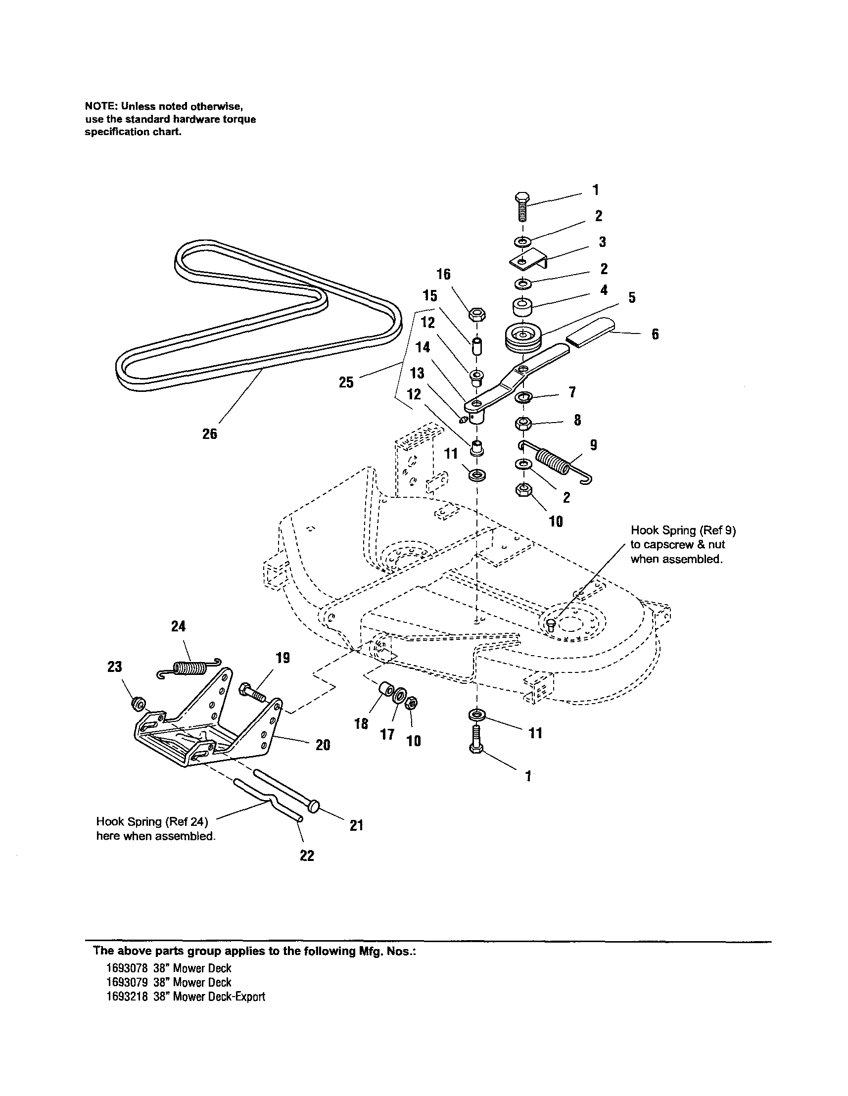 hight resolution of simplicity 1693078 belt idler arm hitch diagram