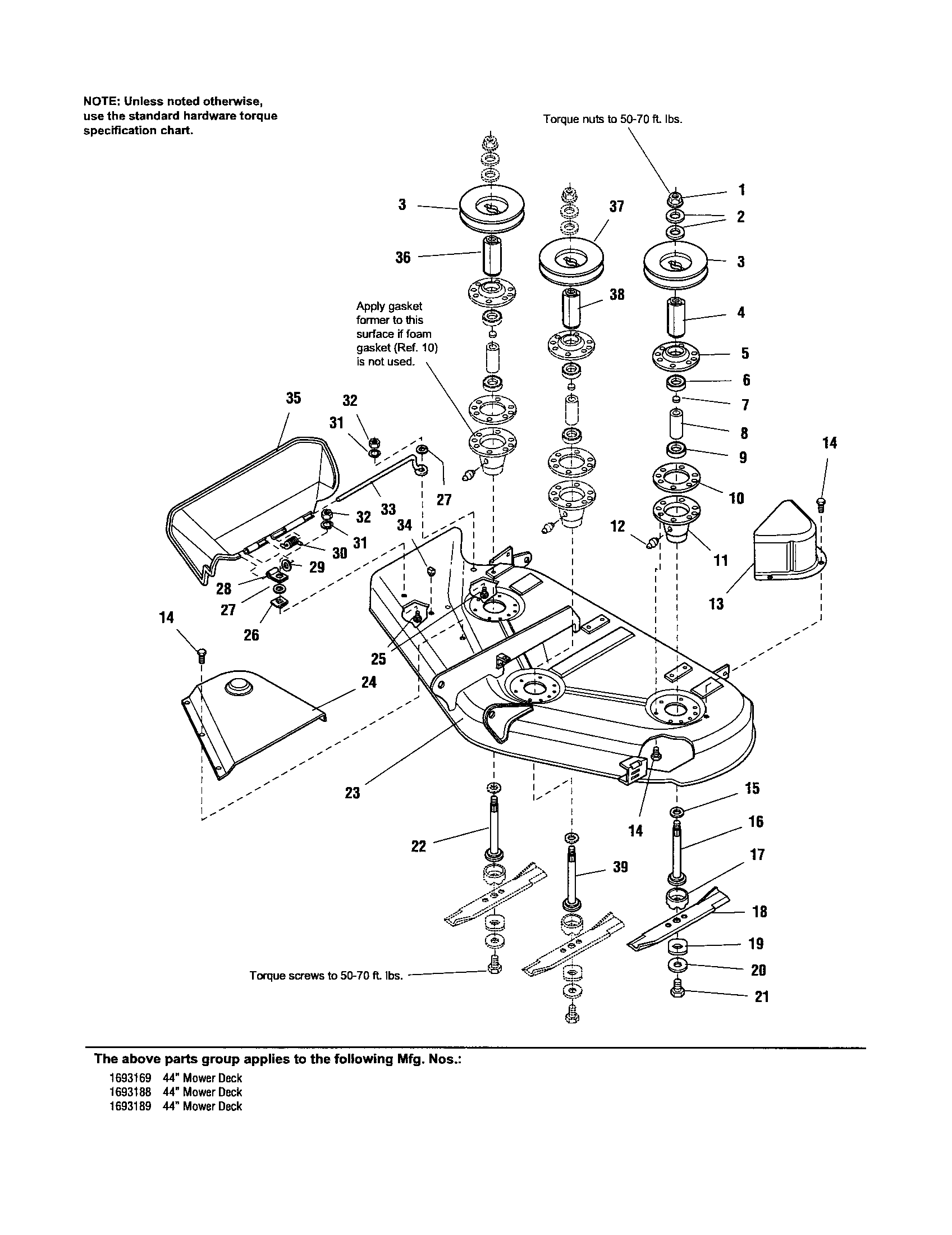 HOUSING/ARBORS/BLADES Diagram & Parts List for Model