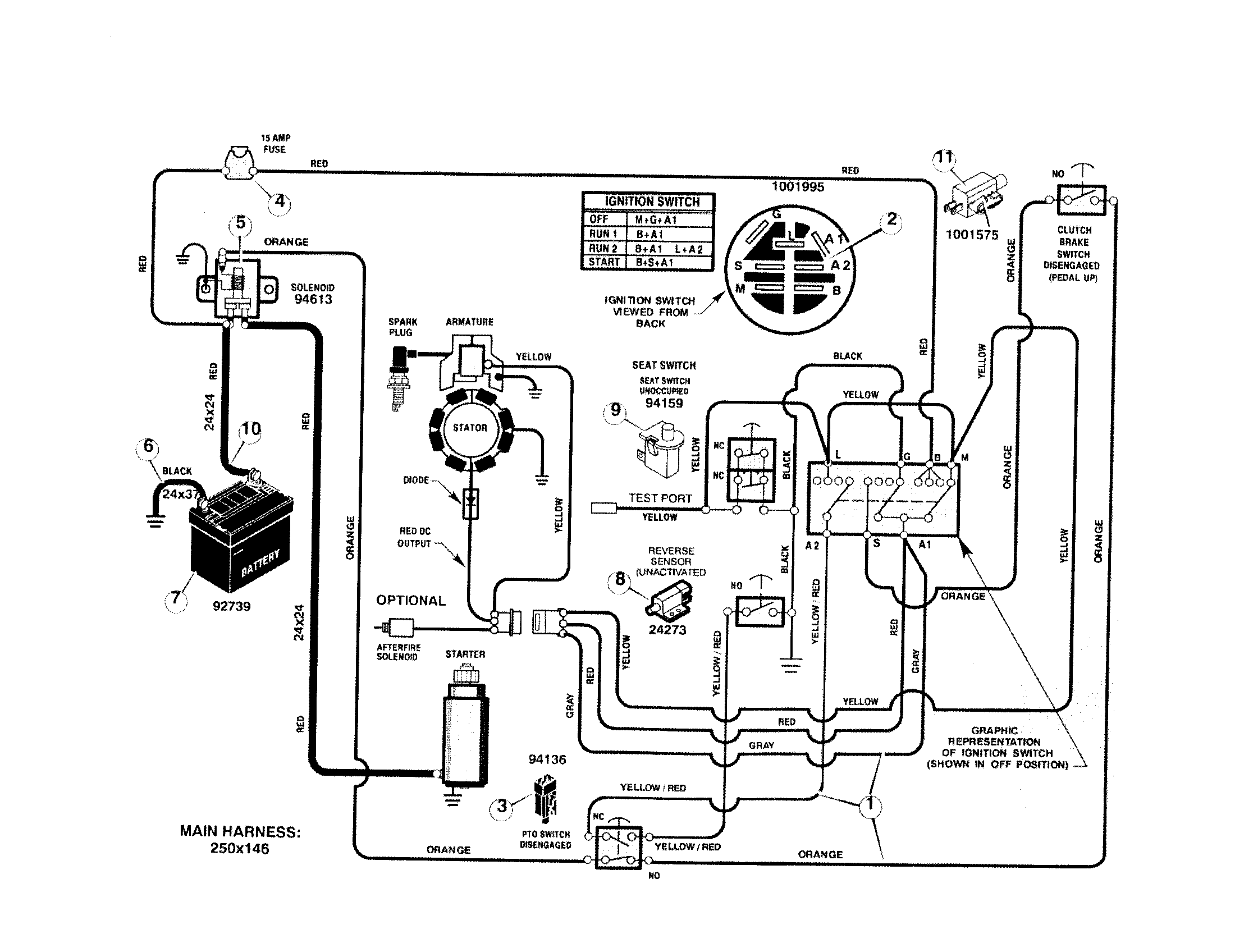 ELECTRICAL SYSTEM Diagram & Parts List for Model 536270340