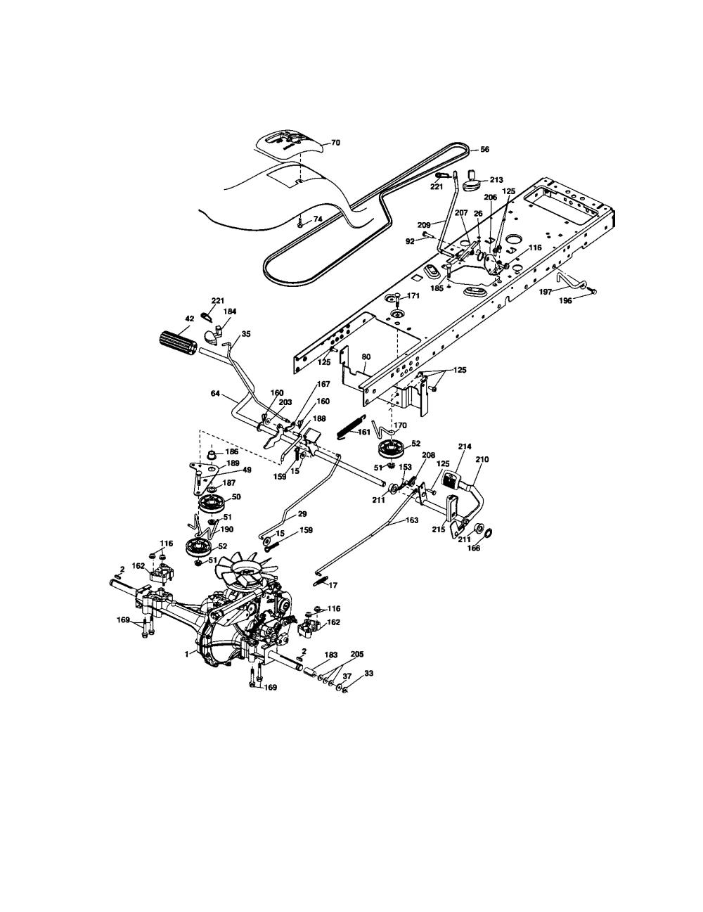 medium resolution of craftsman 917276904 ground drive diagram