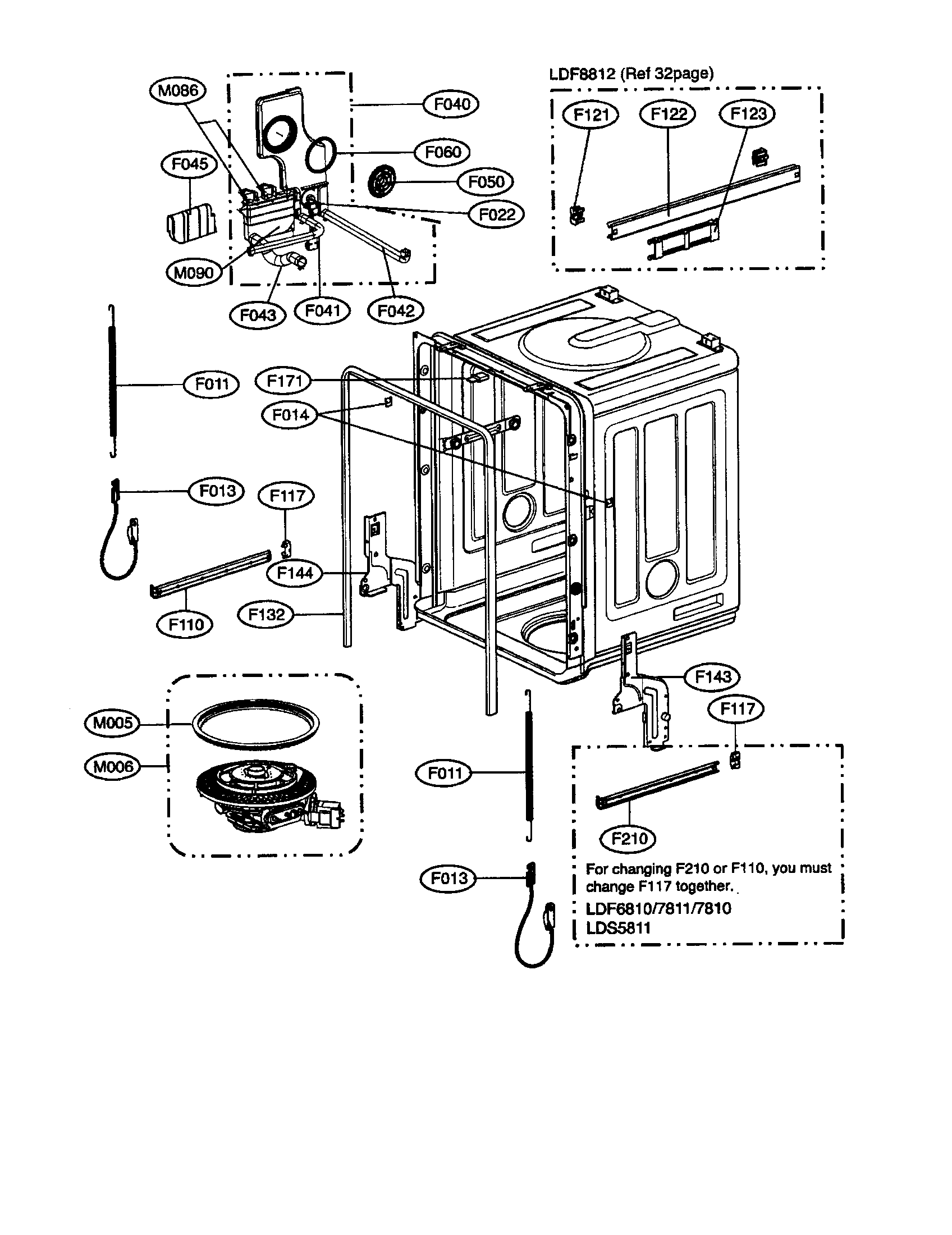 TUB Diagram & Parts List for Model LDF8812ST LG-Parts